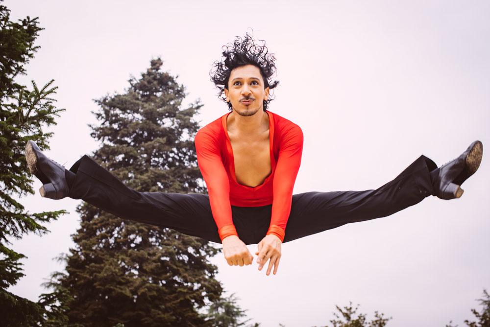 sesion fotografia moda diferente bailarin richard quintana exteriores milena martinez fotografia danza salto