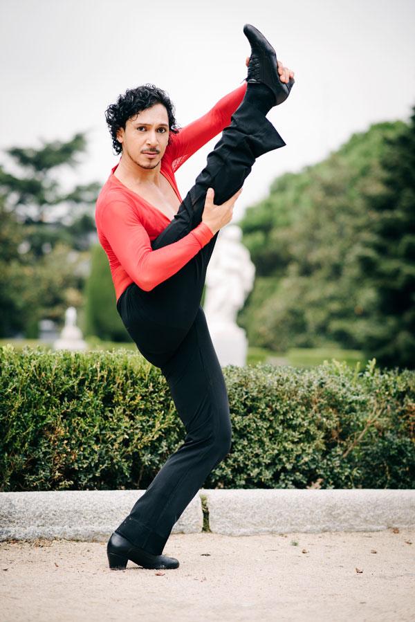 sesion fotografia moda diferente bailarin richard quintana exteriores milena martinez fotografia danza
